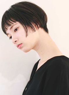 柔らかい質感のナチュラルショートボブ(髪型ショートヘア)