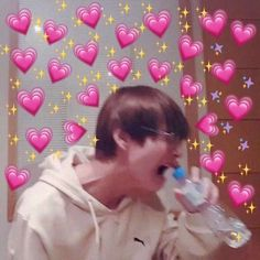 """""""BTS thanked the president for mentioning us. They even said """"our armys"""". OUR Remember during their wings tour, Taehyung keeps saying """"Armys, you belong to us."""" We belong to BTS. Bts Taehyung, Namjoon, Jimin, Seokjin, Bts Meme Faces, Funny Faces, Kpop, Bts Emoji, Heart Meme"""