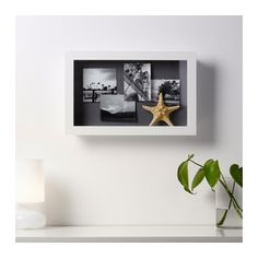 IKEA KASSEBY display box Can be hung horizontally or vertically to fit in the space available.