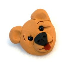 Tan Teddy Bear Brooch Jewelry Funny OOAK  Handmade Pin by creationsbyjdb, $8.00