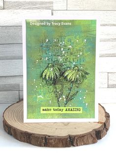 Card created using Tracy Evans Stamp Set, Doodled Blooms from AALL&Create. Flower Stamp, Flower Cards, Evans Art, Gelli Arts, Lavinia Stamps, Crazy Bird, Birthday Cards For Women, Create And Craft, Watercolor Cards