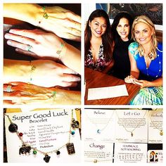 Gave my mom and two sisters #SuperGoodLuckBracelets from @maemaejewelry.  My friend Carrie + I are such fans of Rheena Mae- we've become her unofficial #MaeMaeAmbassadors.  Gonna start wearing more of her pieces on KTLA.  Check it out at maemaejewelry.com.  Love her backstory and what her line stands for!  #FrielFamilyReunion