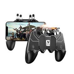 Newseego PUBG Mobile Game Controller [6-Finger Améliorer Version] Manette de Jeu PUBG Trigger Controller avec Déclencheur L1R1 pour Contrôleur de visée Sensible Shooter Joysticks pour Android et iOS