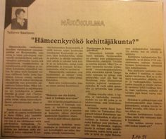 Mielenkiintoinen artikkeli v. 1991