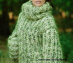 2.5kg hand knit WOOL mohair sweater multi-color mock unisex cozyknittings #cozyknittings #TurtleneckMock