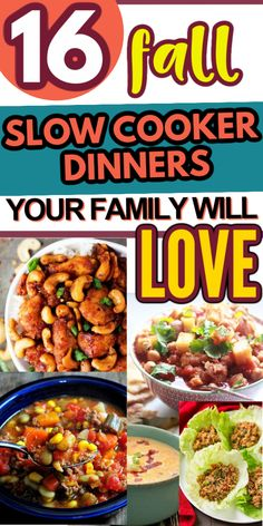 16 mouthwatering fall crockpot dinners that will leave you scraping the bowl clean! #fallslowcookerdinners #fallslowcookerrecipes #slowcookerrecipes #easyslowcookerrecipes Fast Dinners, Cheap Dinners, Quick Meals, Fast Easy Dinner, Dinner On A Budget, Cooking On A Budget, Easy Healthy Recipes, Slow Cooker Recipes, Crock Pot