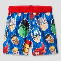 7946328960 Expect More. Pay Less. Toddler Boys' Avengers Justice League® Swim Trunk -  Royal Blue : Target