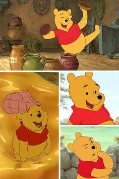 Winnie the Pooh ; Awhhh The Many Faces Of This Silly Ole Bear ! Disney Dream, Disney Love, Disney Magic, Disney And Dreamworks, Disney Pixar, Walt Disney, Winnie The Pooh Friends, Disney Winnie The Pooh, Eeyore