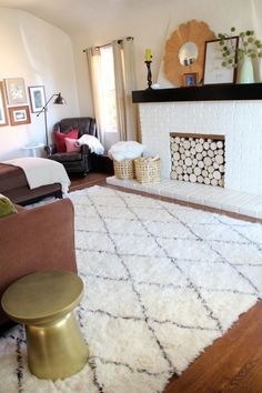 A New Moroccan Shag Rug For The Living Room | PepperDesignBlog.com  Featuring Rugs USA