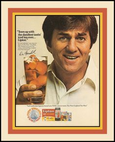 """Dandy Don"" Meredith for Lipton tea."