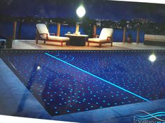 glow in the dark tiles in pools and elsewhere. great night feature