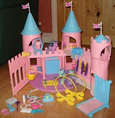 My Little Pony Dream Castle. I got this for Christmas when I was years old. I loved it so much. My Childhood Memories, Childhood Toys, Sweet Memories, My Little Pony, Little Girls, 80s Kids, Oldies But Goodies, Classic Cartoons, Christmas Morning