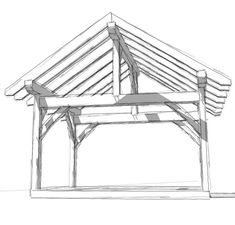 A DIY framing plan and blueprints that can be an open pergola or gazebo. The timber frame construction can be enclosed for a shed or workshop. Pergola Plans, Diy Pergola, Pergola Ideas, Carport Plans, Cheap Pergola, Building A Patio, Building Plans, House Building, Simple Shed