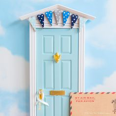 Baby's first Christmas gift - Beautiful personalised letter from the Fairies and Fairy Door