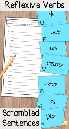 Are you looking for a fun way to practice reflexive verbs and daily routine in your Spanish classes? Check out these sentence scramble activities! Students put the sentence in order, then record their answers. Great for individuals, pairs, or small groups! You can even turn it into a game. It's much more engaging than a worksheet!