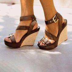 7516177c03d Women Platform Open Toe Wedge Sandals Casual Comfort Adjustable Buckle Shoes