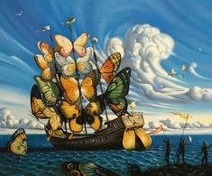 Salvdor Dali, Ship With Butterfly Sails, 1937 ...