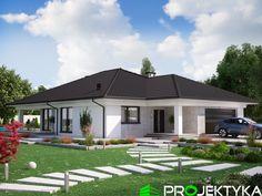Nasz najpopularniejszy projekt domu parterowego Ka23 http://bit.ly/projekty-parterowe ▪️nowoczesny styl, pow. ok 145 m2 ▪️zadaszone wejście oraz taras ▪️dwustanowiskowy garaż  dostępne wersje projektu: Ka23 ver.1, Ka23 ver.2