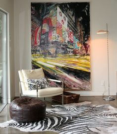 Textures and patterns combine for an eclectic look.