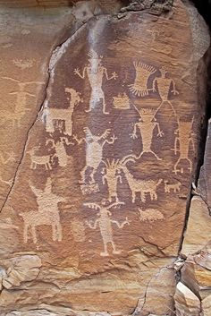 Petroglyphs in Nine Mile Canyon, Utah by Alan Cressler