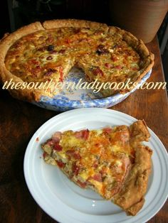 The Southern Lady Cooks: This Ham, Cheese and Tomato Quiche is good for breakfast, brunch, lunch or dinner. The spices and fresh tomato really give it a great flavor. It could also be made with sausage. Enjoy!