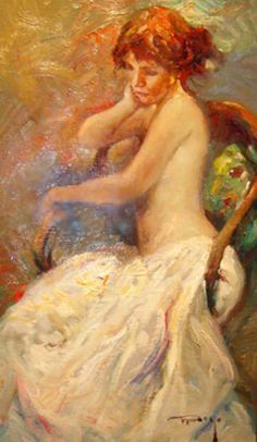 "Original Painting ""Interior"" by  Royo"
