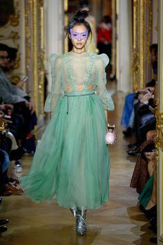 Photo by Giovanni Giannoni (c) Fairchild Fashion Media Fashion News, Runway Fashion, Fashion Models, Girl Fashion, Fashion Details, Timeless Fashion, Transparent Dress, See Through Dress, Fashion Show Collection