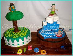 TORTA DECORADA DE PHINEAS AND FERB | TORTAS CAKES BY MONICA FRACCHIA