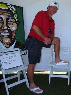 Jamie Moyer, Former MLB All-Star, wearing Telic Snow White Flip Flops...