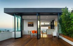 Minimalist modern home design by Aidlin Darling.