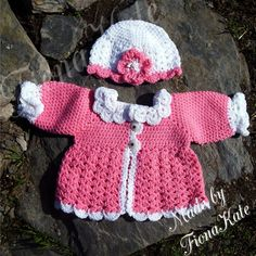 Baby Jacket & hat set  3 to 6 months by madebyFionaKate on Etsy