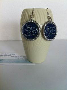 Check out this item in my Etsy shop https://www.etsy.com/listing/232965488/tampa-bay-rays-earrings-tampa-bay-rays