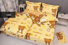 Cliab Yellow Rilakkuma Bedding Queen Striped Yellow 100% Cotton Duvet Cover Set 5pcs Rilakkuma Bed Sheets Cliab Duvet Cover Sets http://www.amazon.com/dp/B00KIH20VM/ref=cm_sw_r_pi_dp_CwrDvb0NJK584