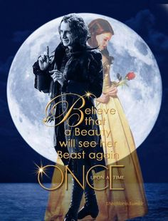 Belle and Rumple from Once Upon a Time.  Season 3