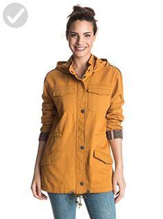 Roxy Juniors Fancy Durban Military Jacket, Honey Mustard, X-Small - All about women (*Amazon Partner-Link)