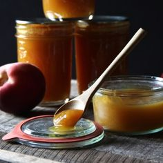 Peach Butter with Honey  Cardamom.  Super easy to make with only 4 ingredients and no canning required.