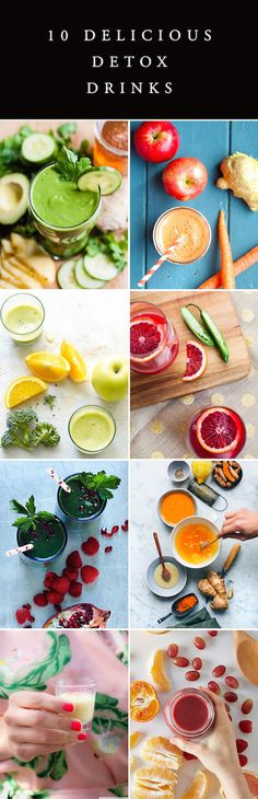 10 Delicious Detox Drink - tons of great juice & smoothie recipes