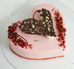 Heart Shaped Cakes, Heart Cakes, Cake Cookies, Cupcake Cakes, Choco Torta, Chocolate Garnishes, Gastro, Valentines Day Cakes, Cake Decorating Tutorials