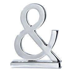 ampersand in silver