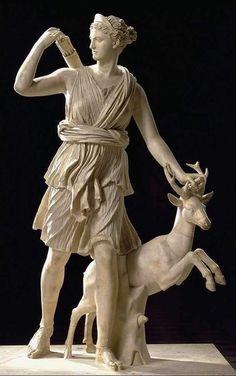 Goddess Aphrodite Apollo Artemis Diana Goddess of Animals Amphora Vase