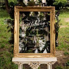 透明 アクリル板 ウェルカムボード Space Wedding, Wedding Reception, Mirror Seating Chart, Welcome Boards, Wedding Welcome, Grand Hotel, Good Vibes Only, Custom Framing, Wedding Decorations