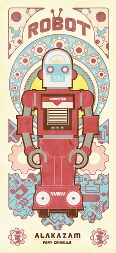 Vintage Robot (ArT DECO LOOK) by fery criwuls, via Behance
