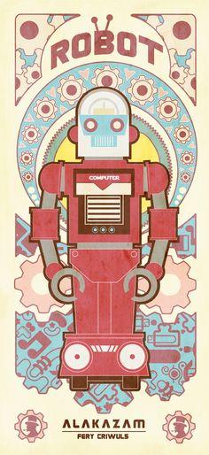 Vintage Robot (ArT DECO LOOK) by fery criwuls, via Behance