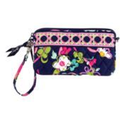 Wristlet that can carry epi pen.  Plus the pattern supports Breast Cancer.    The gusseted interior on this accessory stays slim when needed, and expands to fit all the essentials. Inside, a zipper and four card pockets display your daily must-haves and a wristlet strap turns it all into a small handbag, sealed with a top-zip closure.