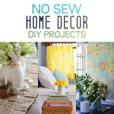 No-Sew Home Decor DIY Projects - The Cottage Market
