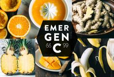 EMERGENCY ½ tbsp. ginger ½ of one mango 2-3 freshly squeezed oranges ¼ of one pineapple 1 peeled banana Dash of cayenne pepper (to clear the sinuses)  #smoothie #recipe