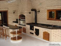 """Exceptional """"built in grill patio"""" detail is offered on our website. Read more and you wont be sorry you did. Diy Grill, Barbecue Grill, Grilling, Outdoor Kitchen Design, Kitchen Decor, Parrilla Exterior, Built In Grill, Design Case, Outdoor Living"""