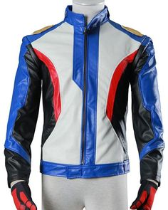 Get on your bike wearing this Soldier 76 Jacket that is inspired by Overwatch Game and made in Motorcycle style in leather for you. Grab Now! #Mega_Sale #Sale Motorcycle Style, Motorcycle Jacket, Motorcycle Leather, Soldier 76, Bike Wear, Collar And Cuff, Leather Jackets, Overwatch, Pu Leather