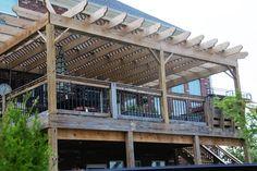 beautiful outdoor deck transformation (& high deck!)