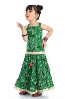Best Discounts & Offers on Mirraw kids Kids Dress Collection, Kids Lehenga Choli, Cape Gown, Choli Designs, Lehenga Choli Online, Gowns For Girls, Kids Frocks, Silk Jacket, Green Fabric
